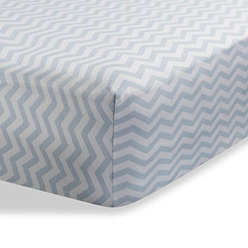 Abstract Fitted Knit Crib Sheet - Best Crib Sheet for Baby - Infant, Toddler 100% Cotton Jersey Knit Deep Fitted Bed Sheet (24' x 38' (MINI CRIB), Zigzag Grey)