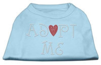 Mirage Pet Products 5201 XLBBL Adopt Me Rhinestone Shirt Baby Blue XL 16