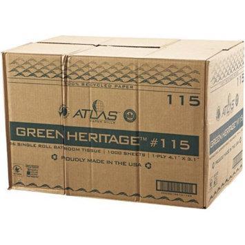Atlas Paper Mills Green Heritage Single Roll Bathroom Tissue, 1000 sheets, 96 rolls