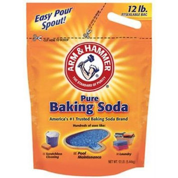 Arm & Hammer 12 Baking Soda 100% Sodium Bicarbonate Re-Sealable Bag