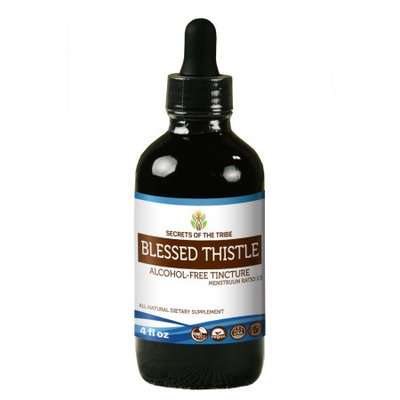 Nevada Pharm Blessed Thistle Tincture Alcohol-FREE Extract, Organic Blessed Thistle (Cnicus benedictus) Dried Leaf 4 oz