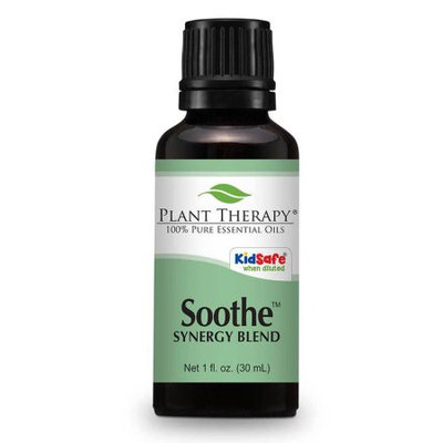Soothe (Anti Eczema) Synergy Essential Oil Blend. 30 ml (1 oz). 100% Pure, Undiluted, Therapeutic Grade. (Blend of: Lavender, Bergamot, Geranium and Roman Chamomile)