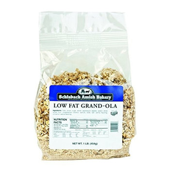 Schlabach Amish Bakery All Natural, Low-Fat Grand-Ola Granola (Pack of 2 – 16 Oz. Bags