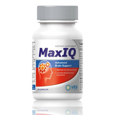 Vitasciences MaxIQ Unlock Your Mental Potential. Brain Function Booster Nootropic. Supports Brain Health, Memory, Focus, Concentration, Energy & Mental Performance