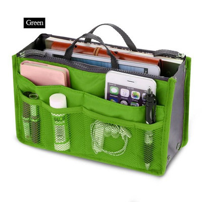 Women Pocket Large Travel Insert Handbag Tote Organizer Tidy Bag Purse Pouch