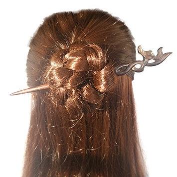 FANTAC CRAFTS 2 Pieces Hairpins Vintage Women Girl Handmade Ebony Hair Stick Plant Shaped Plum Blossom Flower Hair Antique Chignon Bun Updo Pin