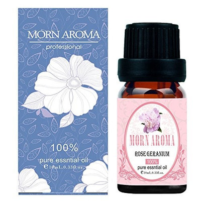 Rose Geranium Essential Oil 10 ml - 100% Pure, Undiluted, Natural & Therapeutic Grade for Aromatherapy, Skin and Relaxation