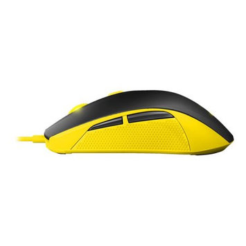 SteelSeries Rival 100 Mouse - Optical - Cable - Proton Yellow - 4000 dpi - Scroll Wheel - 6 Button(s) - Right-handed Only