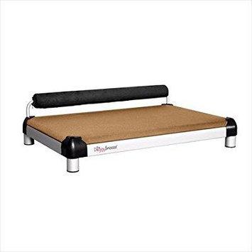 Dutch Dog Design snooze Sleeper Tan/Black Dog Bed MD Silver NoFoam