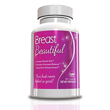 Genetic Solutions Breast Beautiful-Breast Enlargement Pills, 60 Capsules, Full 30 Day Supply, Helps Increase Your Cup S
