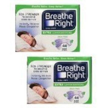 Breathe Right Nasal Strips Extra, Sensative Skin : 88 Clear Strips