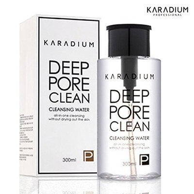 [KARADIUM] Deep Pore Clean Cleansing Water 300ml, All in One Cleansing without Drying out the Skin : Beauty