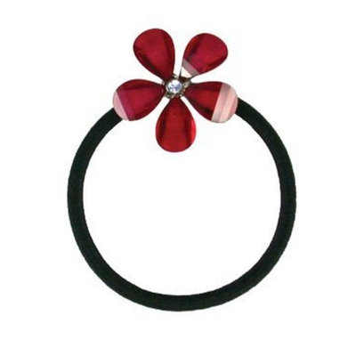 Smoothies Crystal Flower Pony Elastics-Garnet Red 01217