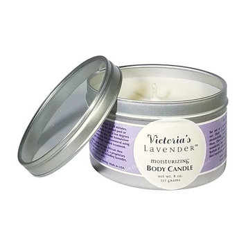 Victoria's Lavender 100% PURE LAVENDER ESSENTIAL OIL MOISTURIZING MASSAGE CANDLE 8 OZ. HANDMADE IN USA