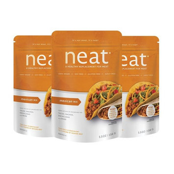 neat - Vegan - Mexican Mix (5.5 oz.) (Pack of 3) - Non-GMO, Gluten-Free, Soy Free, Meat Substitute Mix