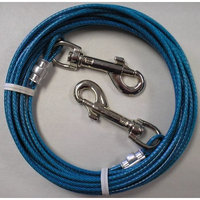 20' Small to Medium Dog Tie Out Cable Leash 20 Ft
