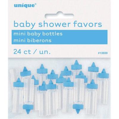 Unique Industries Plastic Mini Baby Bottles 24/Pkg-Blue