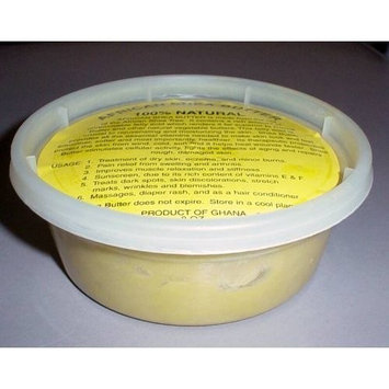 PACK OF 2 African Shea Butter Cream 100% Pure & Raw (Gold) 5 oz.