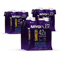 Abbott Laboratories,abbn7 EAS Myoplex Shred Protein Shake Berry Jacked Ready-to-Drink 16 fl oz Bottles (Pack of 4)
