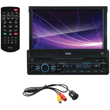 Boss Audio Boss Single din 7 Flip out receiver DVD/CD Bluetooth Remote with Backup Camera