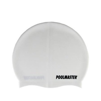 Swim Central White Silicone Swim Cap for Swimming Pools and Spas for Teens and Adults
