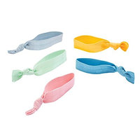 Goody Corporate Ouchless Ribbon Elastic, Soft Pastels, 5 Count (Pack of 3)