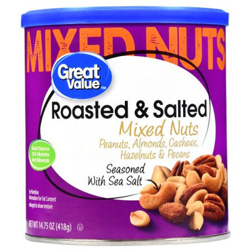 Great Value Roasted & Salted Mixed Nuts