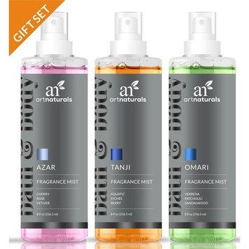Fragrance Mist Set (3x8oz) - Natural Home & Body Spray, Assorted Fragrance
