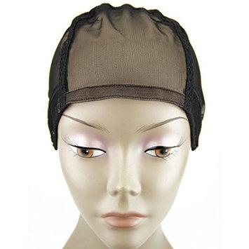 MsFenda 3pcs/lot Medium Size Beige Color Lace Wig Making Cap, Glueless Wig Cap Full Lace Wig Cap, Adjustable Wig Cap(3pcs/lot,Beige)