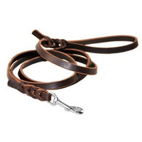 Dean and Tyler Nocturne Dog Leash, Brown 5-Feet by 1/2-Inch Width With Stainless Steel Hardware.