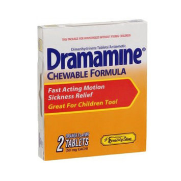Dramamine Chewable Formula Motion Sickness Relief Tablets - 2 Ea/Pack, 6 Pack