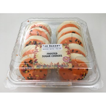 Walmart Stores Inc The Bakery Harvest Orange Frosted Sugar Cookies, 10 count, 13.5 oz.