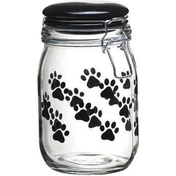 Global Amici Pet Paw 6-pc. Hermetic Glass Storage Jar Set, Black