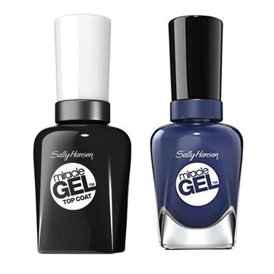 Sally Hansen Miracle Gel Nail Polish, Midnight Mod and Top Coat Kit with Dimple Bracelet