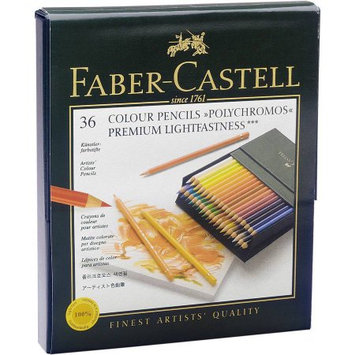 Faber-castel Polychromos Colored Pencil Gift Box, 36pc, Lightfast Colors
