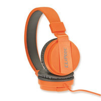 Cliptec Orange Uptown Muisc Stereo 3.5mm Wired Volume Control Headset Earphone On Ear Headphone /Mic