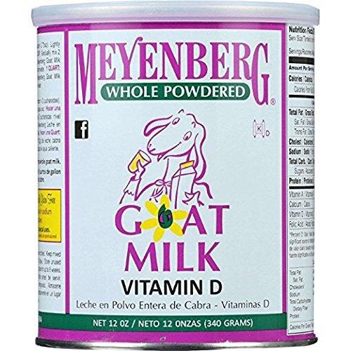 Meyenberg Goat Milk, Whole Powdered Goat Milk, Vitamin D, 2Pack (12 oz (340 g)) Xmcklw