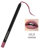Leoy88 12 Colors Professional Lipliner Makeup Waterproof Lip Liner Easyliner Pencil