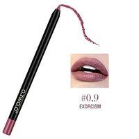Leoy88 12 Colors Professional Lipliner Makeup Waterproof Lip Liner Easyliner Pencil