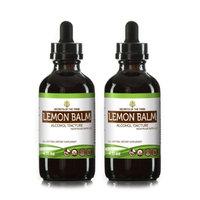 Secrets Of The Tribe Lemon Balm Tincture Alcohol Extract, Organic Lemon Balm (Melissa officinalis) Dried Leaf 2x4 oz