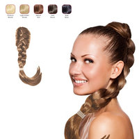 Buy 2 Hollywood Hair French Plat Hair Piece and get 1 braided Alice Band - Light Golden Blonde (Pack of 3)