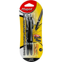 Maped Helix USA 2251-48 Soft Grip Retractable Black Ballpoint Pen - Pack of 2