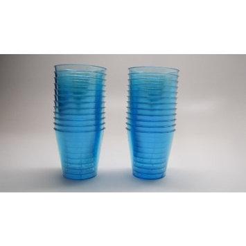 24 Disposable Plastic Shot Glasses (Blue)