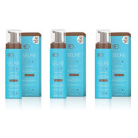 Selife Tan'n Go 1 Hour Express Bronzing Mousse with Instant Color, Super Dark Tan, 7.5 Oz (Pack of 3) + LA Cross Blemish Remover 74851
