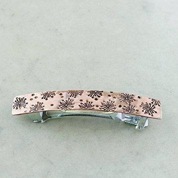 Dandelion barrette, Copper, Small french barrette, hair clip