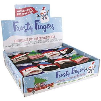 Dm Merchandising X-fglv Fuzzy Holiday Themed Christmas Fingerless Gloves (Pack Of 24)