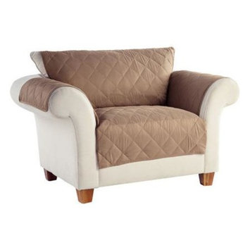 Perfect Fit Industries Tailor Fit No Slip Furniture Protector Loveseat Stoneware
