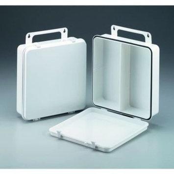 24 Unit- empty polypropylene case w/ gasket & handle hanger- 9-3/16 in. x9-3/16 in. x2-3/4 in. - 1 ea.