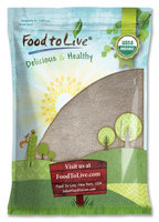 Organic Whole Buckwheat Flour - Non-GMO, Unbleached, Unbromated, Unenriched, Stone Ground, Bulk, Powder, Meal (by Food to Live) (16 Pounds)