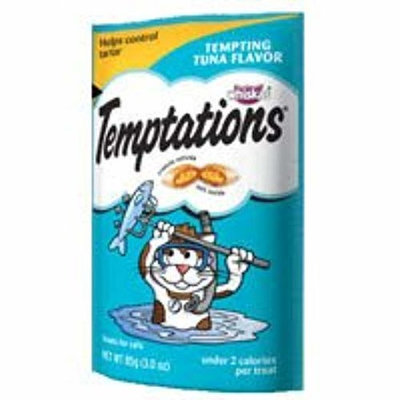 Whiskas Temptations Cat Treats Tempting Tuna Flavor 2 Bags Tartar Control Treats